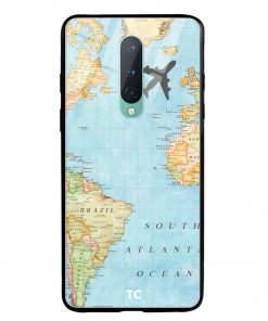 Map Oneplus 8 Glass Case Cover