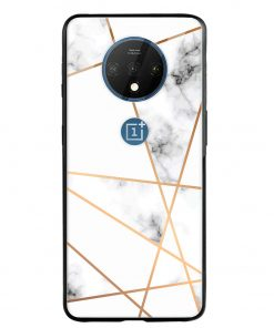 Marble Line Oneplus 7T Glass Case Cover