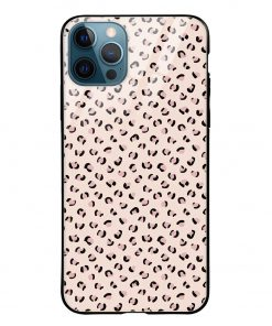 Nude Leopard iPhone 12 Pro Max Glass Case Cover