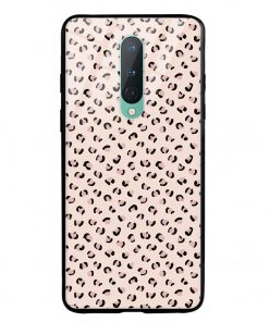 Nude Leopard Oneplus 8 Glass Case Cover