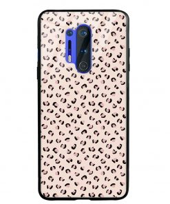 Nude Leopard Oneplus 8 Pro Glass Case Cover