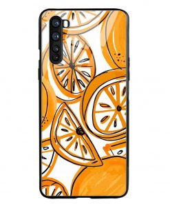 Orange Doodle Oneplus Nord Glass Case Cover