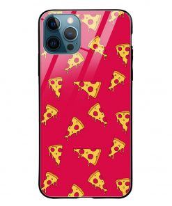 Pizza Pattern iPhone 12 Pro Max Glass Case Cover