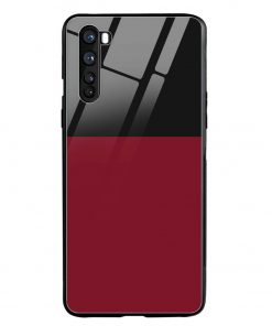 Red Black Oneplus Nord Glass Case Cover