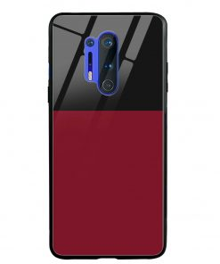 Red Black Oneplus 8 Pro Glass Case Cover