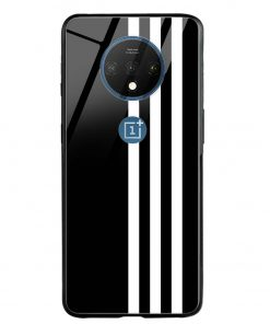 White Stripes Oneplus 7T Glass Case Cover