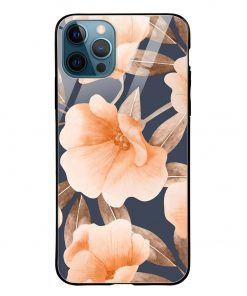 Watercolor Floral iPhone 12 Pro Max Glass Case Cover