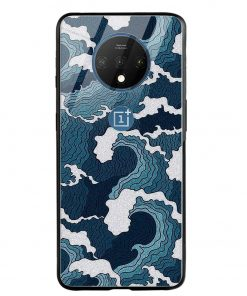 Waves Oneplus 7T Glass Case Cover