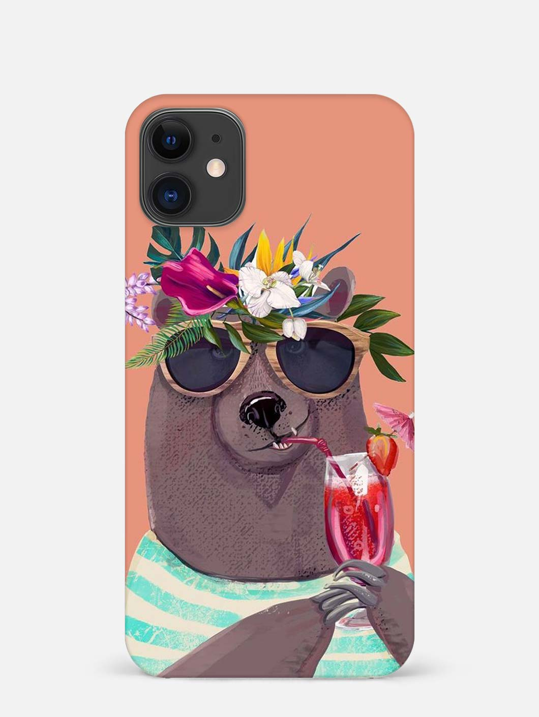 Beach Bear iPhone 12 Mini Mobile Cover