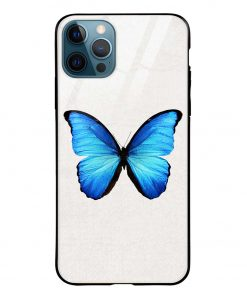 Butterfly iPhone 12 Pro Max Glass Case Cover