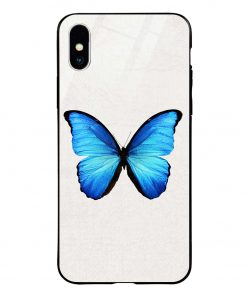 Butterfly iPhone Xs Max Glass Case Cover
