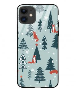 Christmas Tree iPhone 12 Mini Glass Case Cover