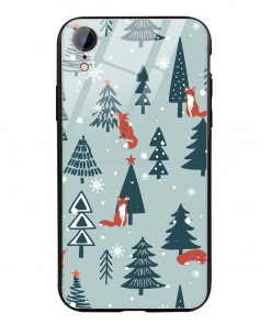 Christmas Tree iPhone XR Glass Case Cover