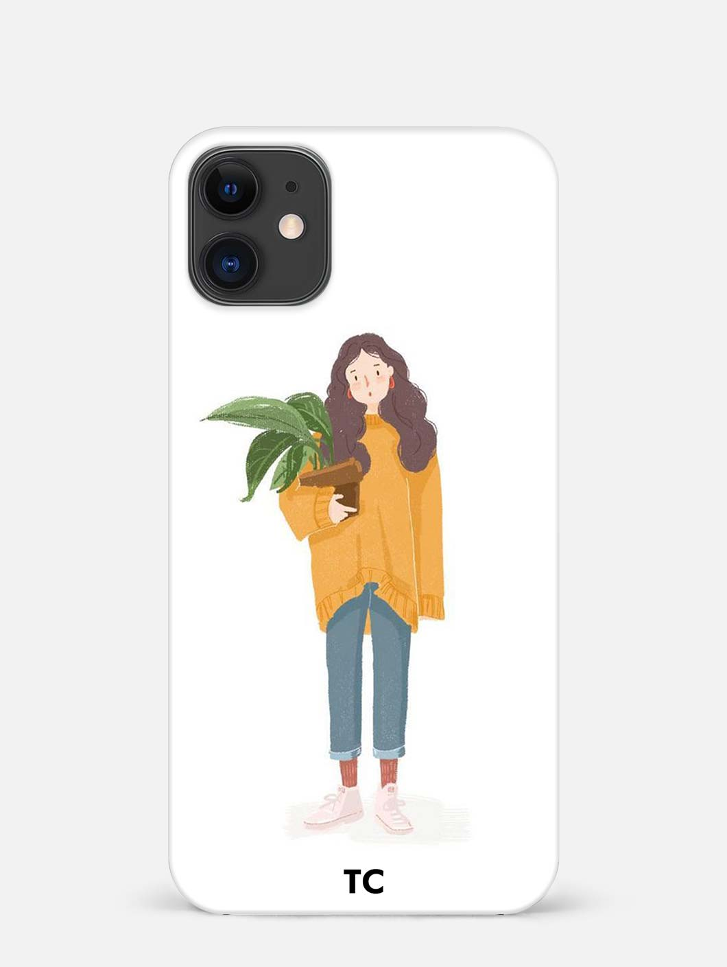 Girl Illustration iPhone 12 Mini Mobile Cover