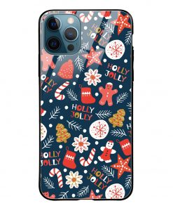 Holly Jolly iPhone 12 Pro Max Glass Case Cover