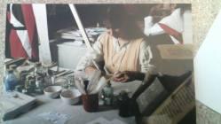 Belgioioso 1999. Preparazione dei colori con la tecnica medievale