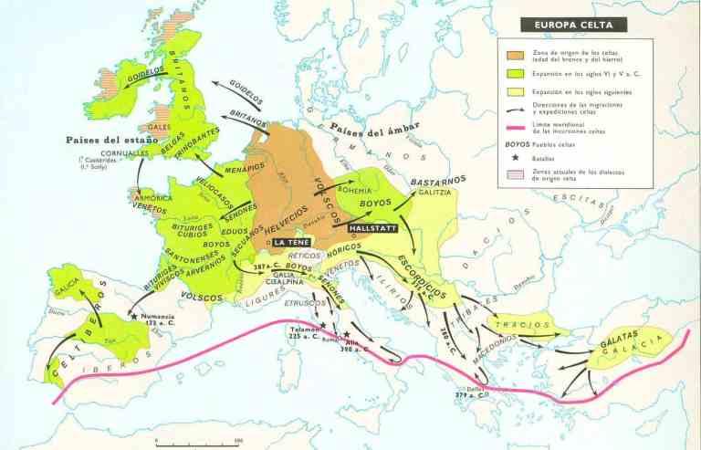 pueblos celtas en Europa
