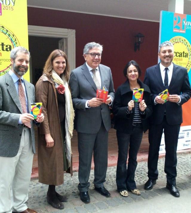 El equipo realizador del festival Toccata Rancagua junto al alcalde de Rancagua, Eduardo Soto.