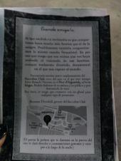 Invitación y mapa al lugar secreto de la fiesta del estreno (si conseguís leerlo, no tiene desperdicio)
