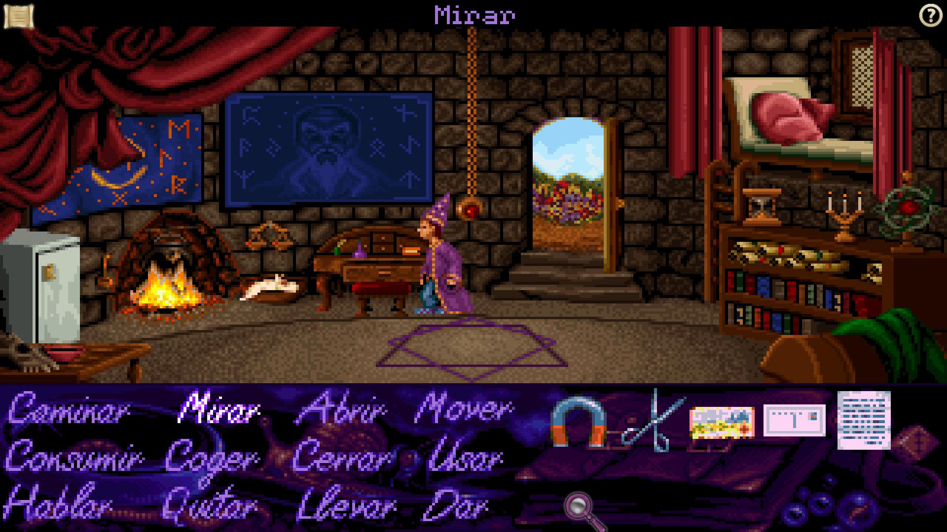 Simon The Sorcerer en la casa de Calypso