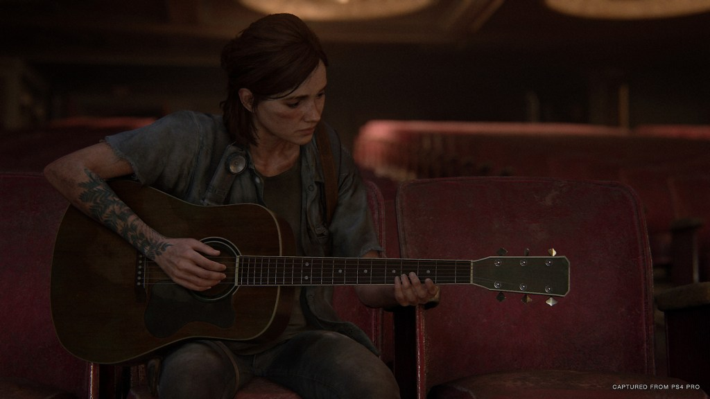 The Last of Us II Elli playing
