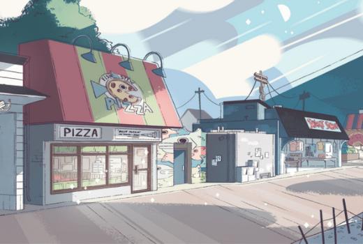 Tiendas Beach City de Steven Universe
