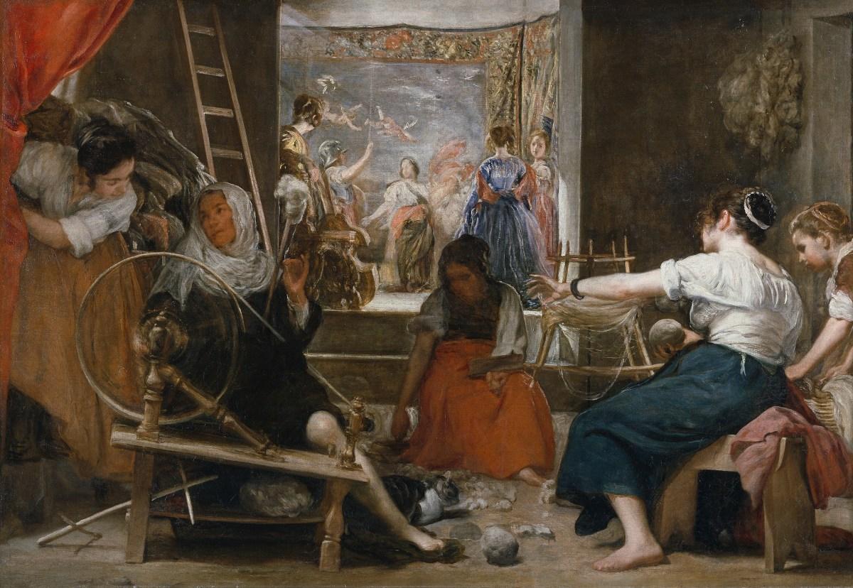 Cuadro de La fabula de Aracne, o Las hilanderas, de Diego Velázquez