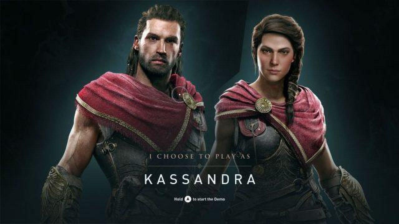 Imagen de selección de personaje en Assassin's Creed Odyssey