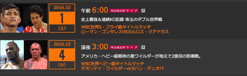 WOWOWノボクシング放送