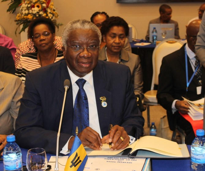 Barbados Prime Minister signs
