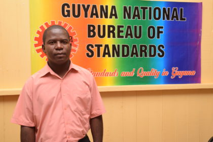 Guyana National Bureau of Standards (GNBS) Public Relations Officer, Mr. Lloyd David. (Photo via GINA)
