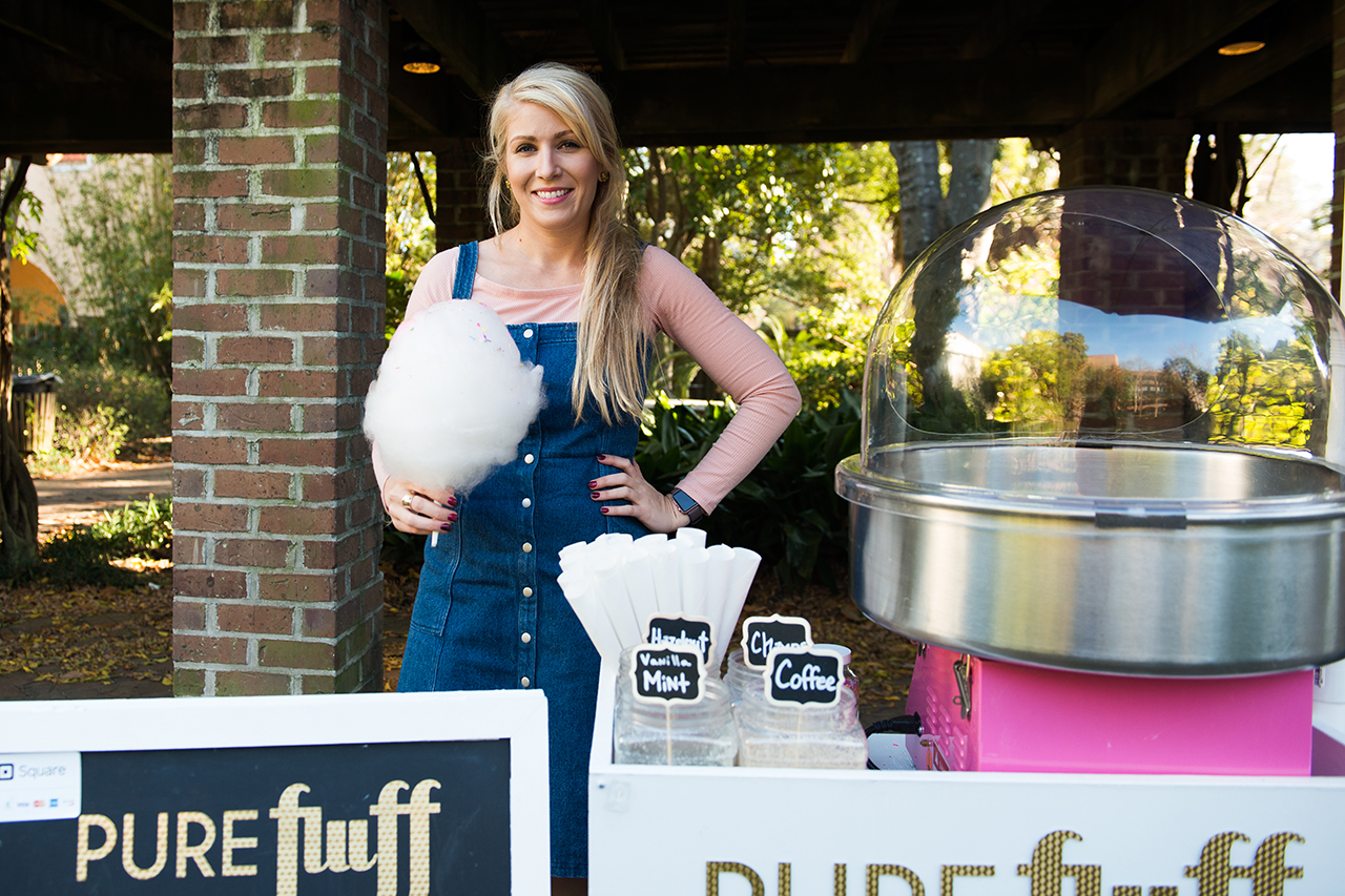 Organic Cotton Candy Cart Company Started By College Of