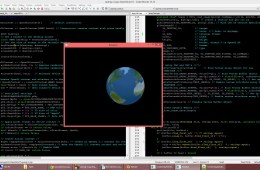 Computer code and graphic model of the earth