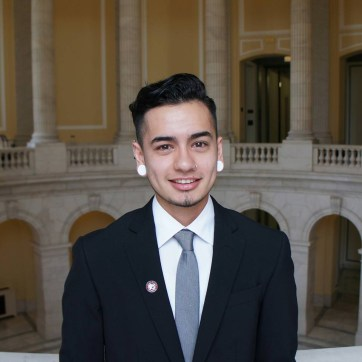 Masen is currently working as the Trans Program Expansion Intern for Chico State's AS Gender & Sexuality Equity Center. (Photo taken during Masen's Congressional Internship in D.C.)