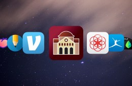 Screen shows different app icons.