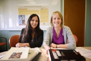 Chico State School of Social Work Professor Susan Roll and her former graduate assistant, Mona Kazemi.