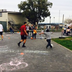 """Christian Roman and the rest of the Chico State men's soccer team provided evacuees of the Oroville Dam Spillway incident with some recreation. Many of those at the Silver Dollar Fairgrounds had families, and head coach Felipe Restrepo said, """"We saw it as an opportunity to lean into the community and bring some cheer into adverse circumstances."""""""