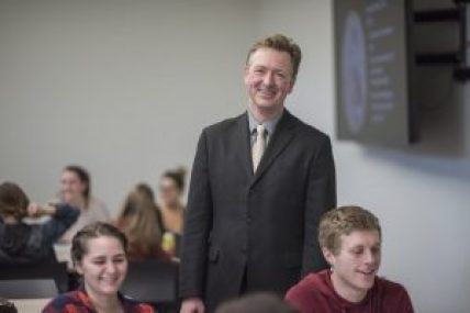 """""""[Jason] teaches his students how to think, read and write like historians by engaging in active learning without sacrificing historical content,"""" said Stephen Lewis, chair of the history department, of Jason Nice, College of Humanities and Fine Arts, recipient of CSU, Chico's Outstanding Teacher Award."""