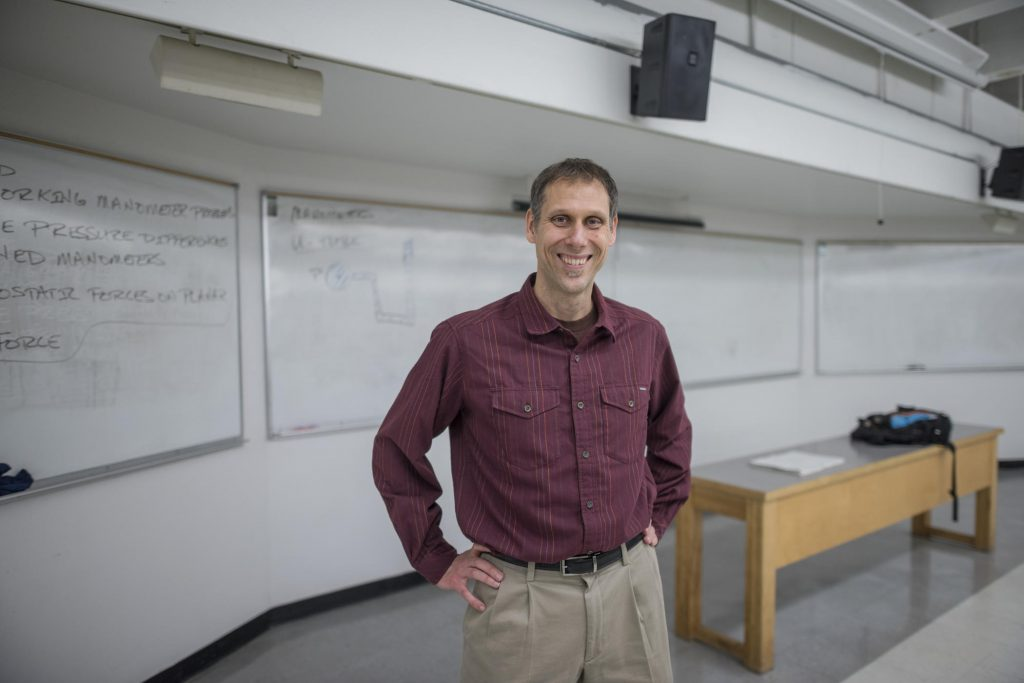 Steffen Mehl, from the College of Engineering, Construction Management and Computer Science, was recognized as the University's 2017-18 Outstanding Professor.