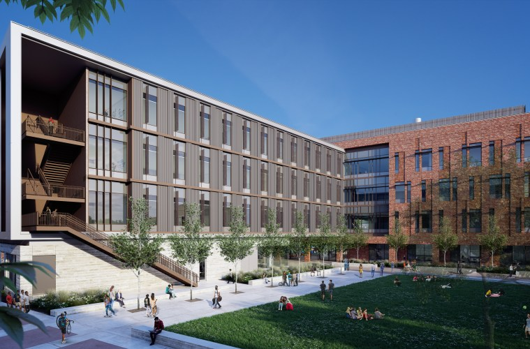 Physical Sciences building rendering