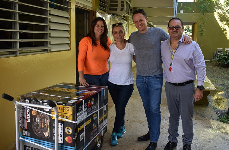 Chris Friedland and his wife delivered 290 generators for residents in Puerto Rico.
