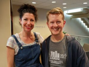 Rachel Belle poses with Ken Jennings.