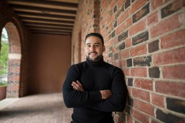 Daniel Caravez is a first-generation college student who was born in Mexico and arrived in the United States when he was seven years old. While he didn't know a word of English, he found a passion and a common language in mathematics. Today, Caravez is a triple major (mathematics education, Spanish education, and Latin American studies) who hopes to use his experiences to teach math to North State students.