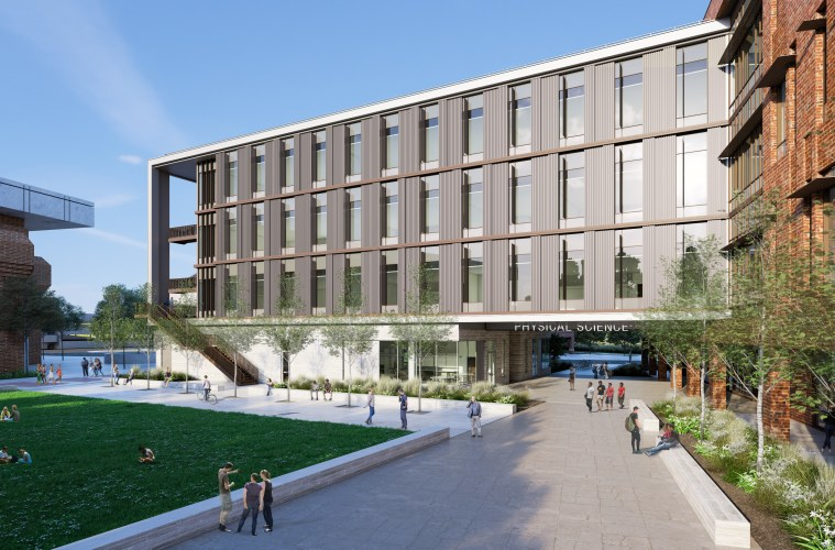 The new physical science building will be a state-of-the-art $101 million facility to help advance CSU, Chico's role as a leader within the North State and across the 23-campus CSU system. Slated to open in fall 2020, the 110,200-square-foot building will include space for chemistry, physics, geological science, and science education labs, as well as active-learning classrooms, synergy between interior learning spaces and outdoor classrooms, graduate research studios, a dean's suite, dozens of faculty offices, and administrative and support areas.