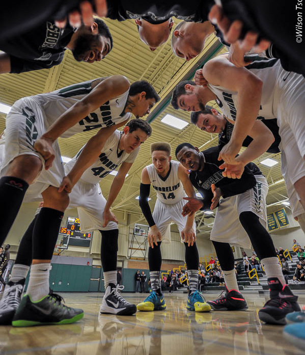 Shoreline CC men's basketball team hosts Peninsula College in a NWAC contest at Shoreline CC Gym on January 31, 2015