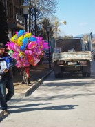 Balloons near a health center