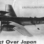 1945: Man Dangles from B-29 During Bombing of Tokyo