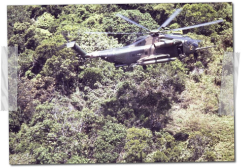 helicopter vietnam war trees forest