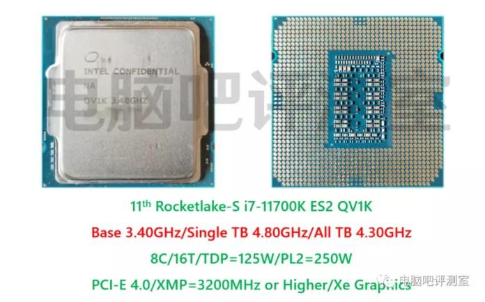 Intel Core i7-11700K 8 Core Rocket Lake Desktop ES2 CPU