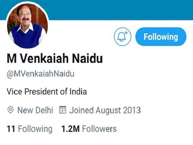 Twitter Removes Blue Tick from Vice President Venkaiah Naidu's Account, Later Restores It